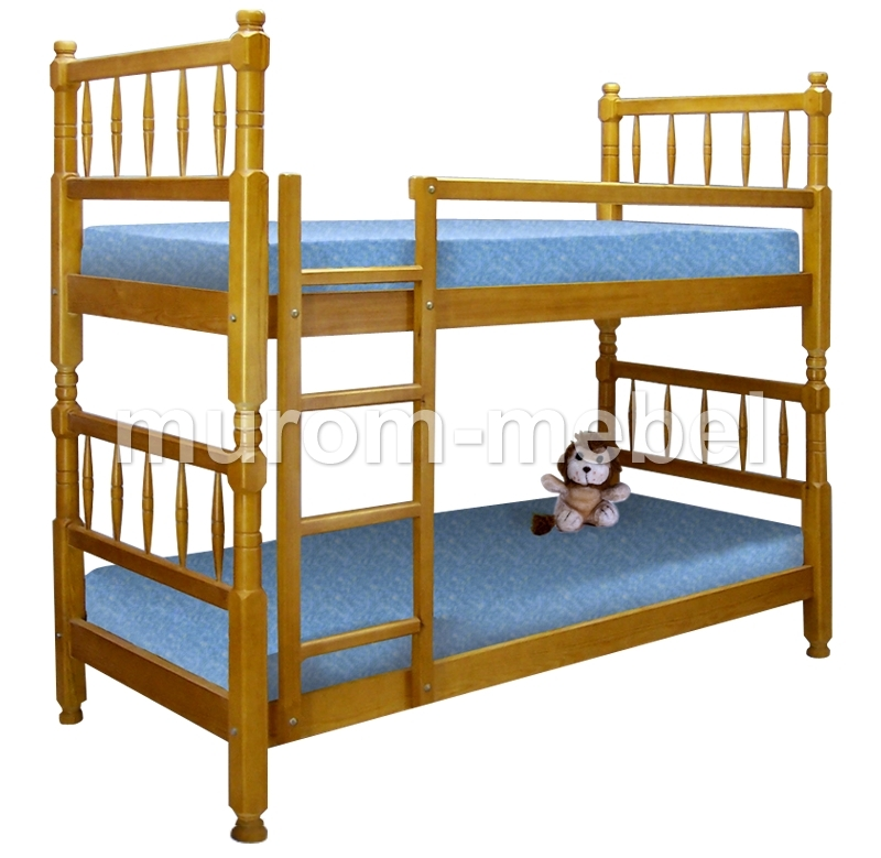 Из массива дерева детская кровати из